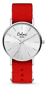 Colori Watch XOXO Nato Red horloge