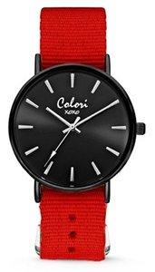 Colori Watch XOXO Nato Red Black horloge