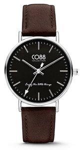 CO88 Leather Black horloge