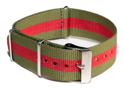 Cheapo Green/red horlogeband