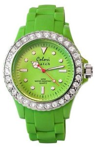 Colori Watch Crystal Lime Green