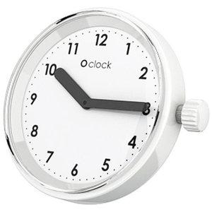 O clock klokje Numbers white