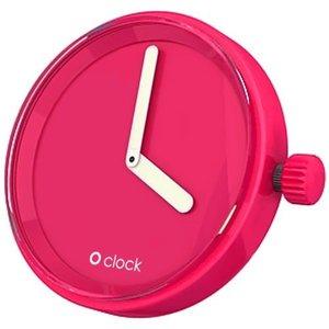 O clock klokje magenta