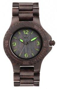 WeWOOD Kale Black Green horloge