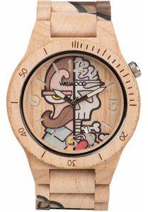WeWOOD Alpha Woop MisterPhil Beige horloge
