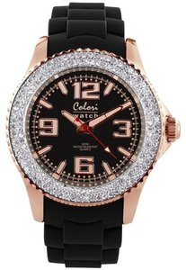 Colori Watch Amazing Rosé Black Crystal